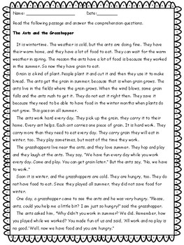 2nd Grade Reading Comprehension - Key Included - CCSS Algined