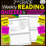 2nd Grade Reading Comprehension Quizzes & Constructed Resp