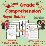 2nd Grade Reading Comprehension - Royal Family - Royal Baby - Archie - 3 Levels