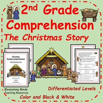 2nd Grade Reading Comprehension The Christmas Story Distance Learning