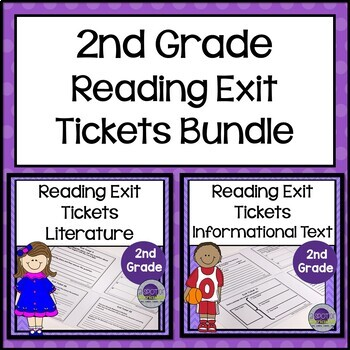 2nd Grade Reading Exit Tickets Bundle