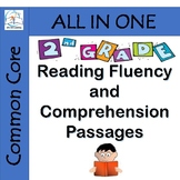 2nd Grade Reading Fluency and Comprehension Passages BUNDLE