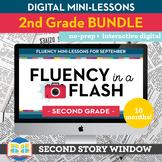 2nd Grade Reading Fluency in a Flash GROWING bundle • Digital Mini Lessons