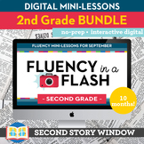 2nd Grade Reading Fluency in a Flash GROWING bundle • Digi