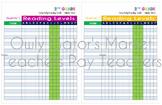 2nd Grade Reading Goals Tracking Chart Bundle – Fountas an