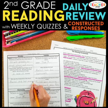 2nd Grade Reading Homework or Morning Work | 2nd Grade Reading Comprehension