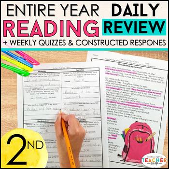 2nd Grade Reading Homework | Reading Comprehension Passages & Questions BUNDLE