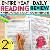 2nd Grade Reading Spiral Review | Reading Comprehension Passages Bundle