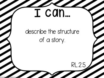 "2nd Grade ""I Can"" Statements: Reading - Black & White"