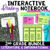 2nd Grade Reading Interactive Notebook Bundle EDITABLE Les