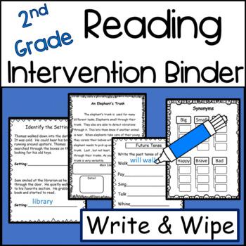 2nd Grade Reading Intervention Binder