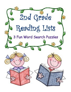 2nd Grade Reading Lists / 3 Fun Word Search Puzzles / Fun Literacy Center Idea