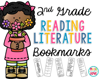 2nd Grade Reading Literature Bookmarks