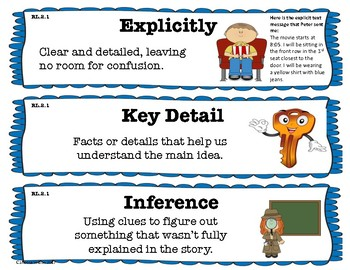 2nd Grade Reading Literature Learning Scales-Common Core Aligned