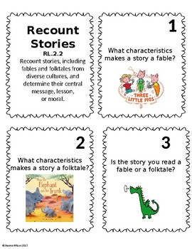 2nd Grade Reading Literature Task Cards- Common Core Aligned