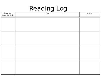 2nd Grade Reading Log with Journeys Comprehension