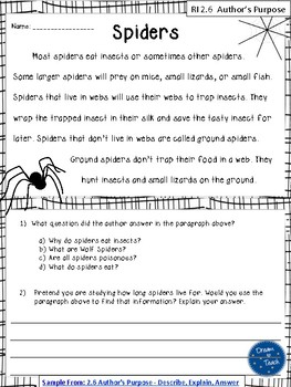 2nd Grade Reading Passages with Questions by Dream to ...