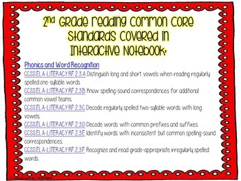 2nd Grade Reading (Phonics & Word Rec) Interactive Journal {CCSS Aligned}