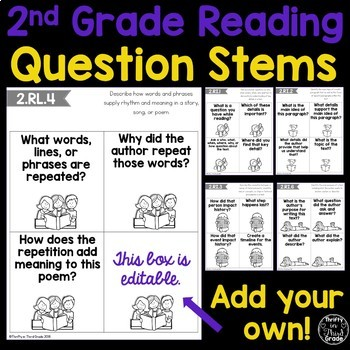 2nd Grade Reading Question Stems