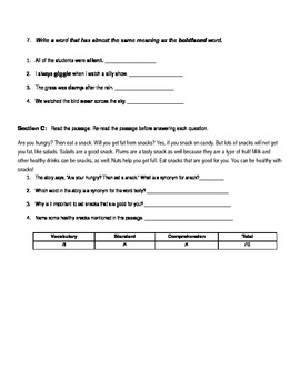 2nd Grade Reading Review 2