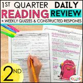 2nd Grade Reading Spiral Review | Reading Comprehension Passages | 1st Quarter