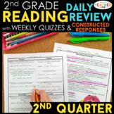 2nd Grade Reading Spiral Review & Quizzes   Constructed Response   2nd QUARTER