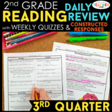 2nd Grade Reading Spiral Review & Quizzes   Constructed Response   3rd QUARTER