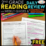 2nd Grade Reading Review & Quizzes with Constructed Respon