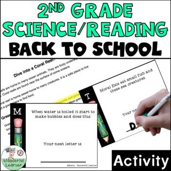 2nd Grade Reading/Science First Day of School Activity