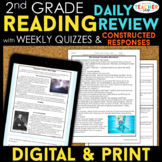 2nd Grade Reading Spiral Review, Quizzes & Constructed Response DIGITAL & PRINT
