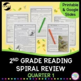 2nd Grade Reading Spiral Review - Quarter 1 Google Forms Distance Learning Pack