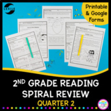 2nd Grade Reading Spiral Review - Quarter 2 Google Forms Distance Learning Pack