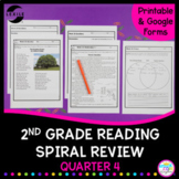 2nd Grade Reading Spiral Review - Quarter 4 Google Forms Distance Learning Pack
