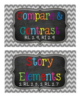2nd Grade Reading Strategy Tub Labels (with Common Core Standards)