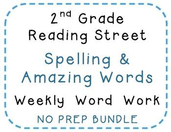 2nd Grade Reading Street 2008 Center Activities, Spelling, Amazing words