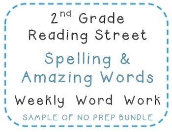 2nd Grade Reading Street 2008 Center Activities, Spelling, Amazing words SAMPLE