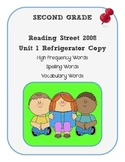 2nd Grade Reading Street 2008 Unit 1 Refrigerator Copy