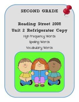 2nd Grade Reading Street 2008 Unit 2 Refrigerator Copy
