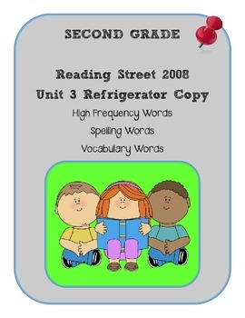 2nd Grade Reading Street 2008 Unit 3 Refrigerator Copy