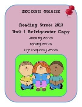 2nd Grade Reading Street 2013 Unit 1 Refrigerator Copy