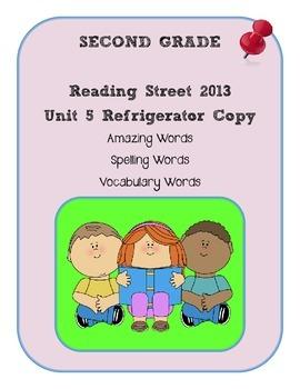 2nd Grade Reading Street 2013 Unit 5 Refrigerator Copy