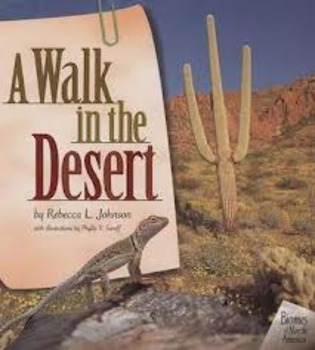 2nd Grade Reading Street A Walk in the Desert Differentiat
