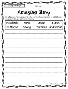 2nd Grade Reading Street Amazing Words - Writing Activity UNITS 1-6
