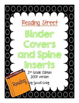 2nd Grade Reading Street Binder Covers and Spine Inserts