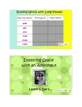 2nd Grade Reading Street Common Core Reading Slides (Exploring Space)