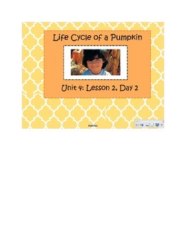2nd Grade Reading Street Common Core Reading Slides (Life Cycle of a Pumpkin)