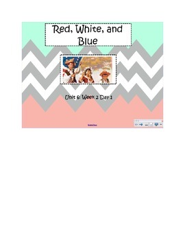 2nd Grade Reading Street Common Core Reading Slides (Red, White, and Blue)