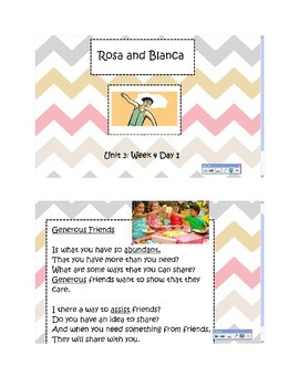 2nd Grade Reading Street Common Core Reading Slides (Rosa and Blanca)