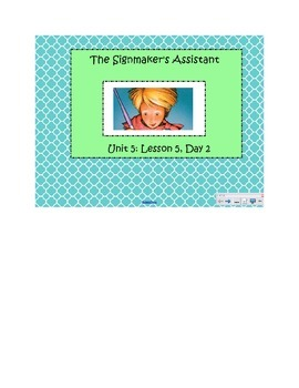2nd Grade Reading Street Common Core Reading Slides (The Signmaker's Assistant)