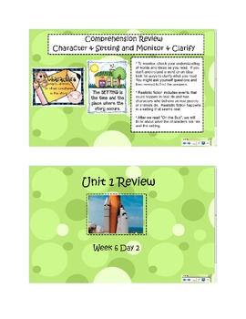 2nd Grade Reading Street Common Core Reading Slides (Unit 1 Review) Week 6